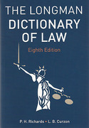 Cover of The Longman Dictionary of Law 8th ed (mylawchamber Premium)