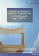 Cover of Pettet's Company Law & Corporate Finance 4th ed (mylawchamber)