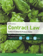 Cover of Elliott & Quinn: Contract Law 9th ed (MyLawChamber)