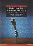 Cover of Media Law: Text, Cases and Materials