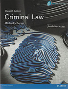 Cover of Criminal Law 11th ed (MyLawChamber)
