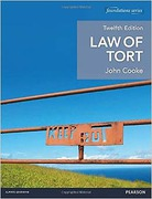 Cover of Law of Tort 12th ed (MyLawChamber)