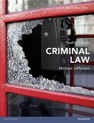 Cover of Criminal Law 12th ed (MyLawChamber)