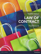 Cover of Law of Contract 12th ed (MyLawChamber)