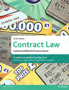 Cover of Elliott & Quinn: Contract Law 10th ed