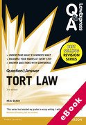 Cover of Law Express Question & Answer: Tort Law  (eBook)