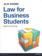 Cover of Law for Business Students 9th ed (MyLawChamber)