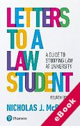 Cover of Letters to a Law Student: A Guide to Studying Law at University (eBook)