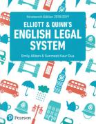 Cover of Elliott & Quinn's English Legal System 2018/2019