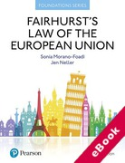 Cover of Fairhurst's Law of the European Union (eBook)
