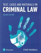 Cover of Text, Cases and Materials on Criminal Law