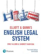 Cover of Elliott & Quinn's English Legal System 2019/2020
