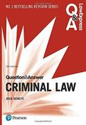 Cover of Law Express Question & Answer: Criminal Law