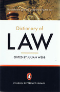 Cover of Penguin Dictionary of Law
