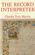Cover of The Record Interpreter: Collection of Abbreviations, Latin Words and Names Used in English Historical Manuscripts and Records
