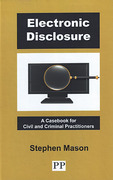 Cover of Electronic Disclosure: A Casebook for Civil and Criminal Practitioners