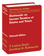 Cover of Blattmachr on Income Taxation of Estates and Trusts Looseleaf