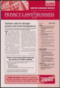 Cover of Privacy Laws and Business: UK Reports Subscription