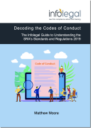 Cover of Decoding the Codes of Conduct: The Infolegal Guide to Understanding the SRA's Standards and Regulations 2019