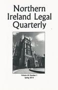 Cover of Northern Ireland Legal Quarterly