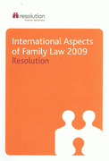 Cover of International Aspects of Family Law 2009
