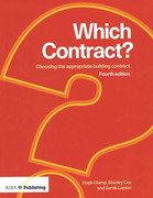 Cover of Which Contract? Choosing the Appropriate Building Contract