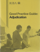 Cover of RIBA Good Practice Guide: Adjudication