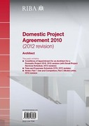 Cover of RIBA Domestic Project Agreement 2010 (2012 revision): Architect