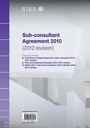 Cover of RIBA Sub-consultant Agreement 2010 (2012 revision)