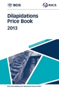 Cover of BCIS Dilapidations Price Book 2013