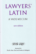 Cover of Lawyers' Latin: A Vade-Mecum