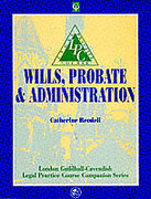 Cover of LPC: Wills, Probate and Administration