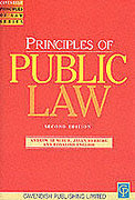 Cover of Principles of Public Law