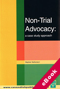 Cover of Non-Trial Advocacy: A Case Study Approach (eBook)
