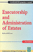 Cover of Executorship and Administration of Estates
