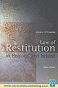 Cover of Law of Restitution in England and Ireland