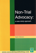 Cover of Non-Trial Advocacy: A Case Study Approach