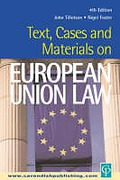 Cover of Text, Cases and Materials on European Union Law