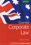 Cover of Australian Essential Corporate Law