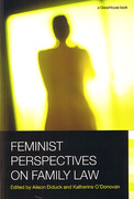 Cover of Feminist Perspectives on Family Law