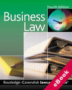 Cover of Routledge-Cavendish Lawcards: Business Law (eBook)
