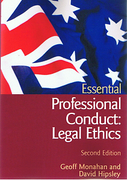 Cover of Australian Essential Professional Conduct: Legal Ethics