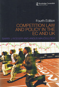 Cover of Competition Law and Policy in the EC and UK