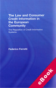 Cover of Law and Consumer Credit Information in the European Community (eBook)