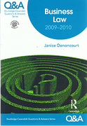 Cover of Routledge-Cavendish Q & A: Business Law 2009-2010