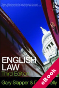Cover of English Law (eBook)