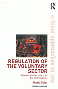 Cover of Regulation of the Voluntary Sector: Freedom and Security in an Era of Uncertainty
