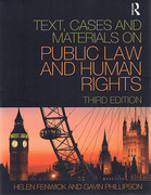 Cover of Text Cases and Materials Public Law and Human Rights