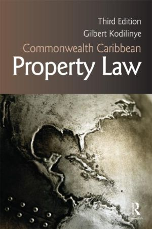 Commonwealth caribbean property law by gilbert kodilinye