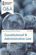 Cover of Routledge Revision Q&A Constitutional & Administrative Law 2013-2014